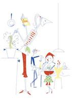 料理をする親子 20037002267| 写真素材・ストックフォト・画像・イラスト素材|アマナイメージズ