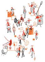 人で賑わう商店街 20037002337| 写真素材・ストックフォト・画像・イラスト素材|アマナイメージズ