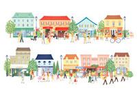 賑やかな町並み 20037002554| 写真素材・ストックフォト・画像・イラスト素材|アマナイメージズ