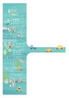 賑やかな町並みと道路 20037002559| 写真素材・ストックフォト・画像・イラスト素材|アマナイメージズ