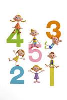 数字と子供達