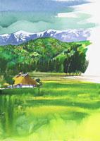 山形県(春)朝日連峰 20037002624| 写真素材・ストックフォト・画像・イラスト素材|アマナイメージズ