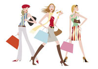 ショッピングする女性 20037002636  写真素材・ストックフォト・画像・イラスト素材 アマナイメージズ
