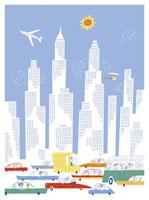 ビルと乗り物 20037002646| 写真素材・ストックフォト・画像・イラスト素材|アマナイメージズ
