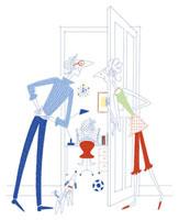子供の部屋を覗く両親 20037002664| 写真素材・ストックフォト・画像・イラスト素材|アマナイメージズ