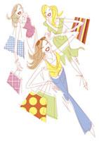 ショッピングをする女性達 20037002675| 写真素材・ストックフォト・画像・イラスト素材|アマナイメージズ
