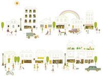 街中の風景 20037002847| 写真素材・ストックフォト・画像・イラスト素材|アマナイメージズ