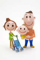 家族のポートレート 20037002934| 写真素材・ストックフォト・画像・イラスト素材|アマナイメージズ