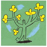 人と花のイメージ
