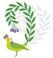 鳥と植物のイメージ 20037002965| 写真素材・ストックフォト・画像・イラスト素材|アマナイメージズ