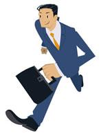 走るビジネスマン 20037002986| 写真素材・ストックフォト・画像・イラスト素材|アマナイメージズ