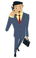 携帯電話で話すビジネスマン 20037002988| 写真素材・ストックフォト・画像・イラスト素材|アマナイメージズ