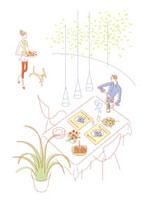 食事の準備をする夫婦 20037003066| 写真素材・ストックフォト・画像・イラスト素材|アマナイメージズ