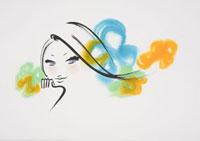 頬杖をつく若い女性のアップ 20037003082| 写真素材・ストックフォト・画像・イラスト素材|アマナイメージズ