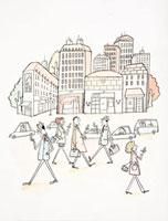 街中で携帯電話を使う人々 20037003089| 写真素材・ストックフォト・画像・イラスト素材|アマナイメージズ