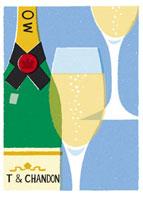 シャンパンとグラス