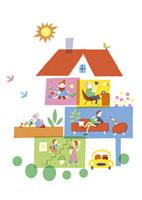 家の中の生活シーン 20037003207  写真素材・ストックフォト・画像・イラスト素材 アマナイメージズ