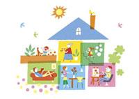 家の中の生活シーン