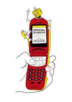 携帯電話とロボット 20037003272| 写真素材・ストックフォト・画像・イラスト素材|アマナイメージズ