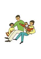 家族の団欒 20037003361| 写真素材・ストックフォト・画像・イラスト素材|アマナイメージズ
