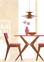 ダイニングテーブル 20037003387| 写真素材・ストックフォト・画像・イラスト素材|アマナイメージズ