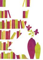 本棚と花瓶