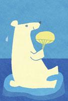 団扇で扇ぐ白熊