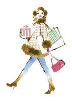 ショッピングをしている女性 20037003516| 写真素材・ストックフォト・画像・イラスト素材|アマナイメージズ