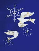 白い鳥のクラフト