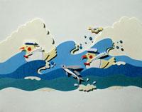 水兵服を着た水鳥
