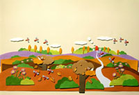 とんぼが飛んでいる秋の風景