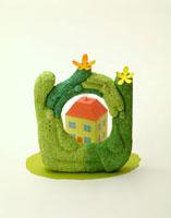 家と緑の家族