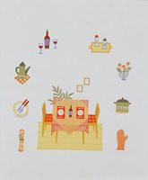 テーブルセットとテーブルアイテム 20037004238| 写真素材・ストックフォト・画像・イラスト素材|アマナイメージズ
