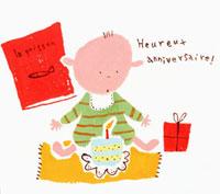 誕生日の赤ちゃん 20037004277| 写真素材・ストックフォト・画像・イラスト素材|アマナイメージズ