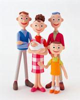 三世代家族 20037004364| 写真素材・ストックフォト・画像・イラスト素材|アマナイメージズ