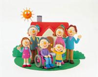 家と三世代家族