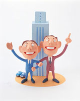 ビルとビジネスマン 20037004416| 写真素材・ストックフォト・画像・イラスト素材|アマナイメージズ