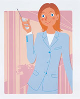 携帯電話を持つ女性 20037004726| 写真素材・ストックフォト・画像・イラスト素材|アマナイメージズ