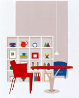 椅子とテーブルと収納ボックス