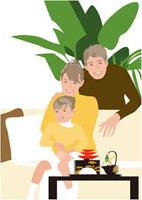 屠蘇器と親子3人