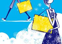 ショッピングバックを持つ女性 20037004927| 写真素材・ストックフォト・画像・イラスト素材|アマナイメージズ
