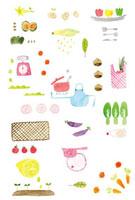 野菜とキッチン小物