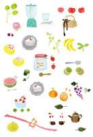 果物と小物