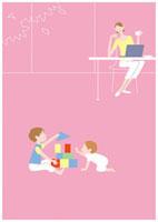リビングで過ごす母子 20037004979| 写真素材・ストックフォト・画像・イラスト素材|アマナイメージズ