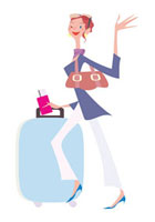 女性 旅行イメージ