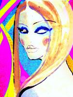 女性の顔 カラフル