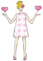 ハートを持つ女性 20037005137| 写真素材・ストックフォト・画像・イラスト素材|アマナイメージズ