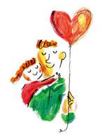 ハートと父親と女の子 20037005201| 写真素材・ストックフォト・画像・イラスト素材|アマナイメージズ
