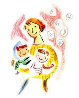 母親と子供たち 20037005203| 写真素材・ストックフォト・画像・イラスト素材|アマナイメージズ