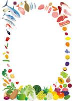 色々な食材のフレーム